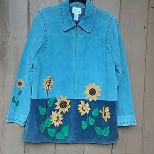 🌻Sweet Suede Vintage Quacker Factory Jacket